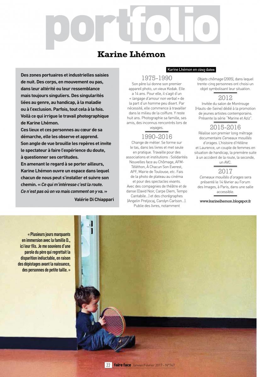 Portfolio _ Karine Lhémon FF747 janvier-février 2017, pp22-27